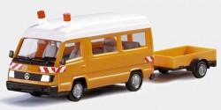 Mercedes Benz 100 D mit Anhänger Streckenkontrolle