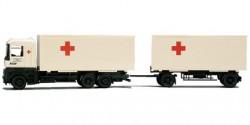 Renault AE Wechselkoffer-Hängerzug Rotes Kreuz
