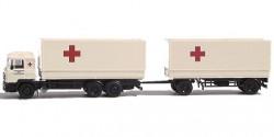 MAN F90 Planen-Hängerzug Rotes Kreuz