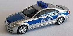 Mercedes Benz S-Klasse Polizei gepanzert Werttransportbegleitung silber/blau Blaulichtbalken